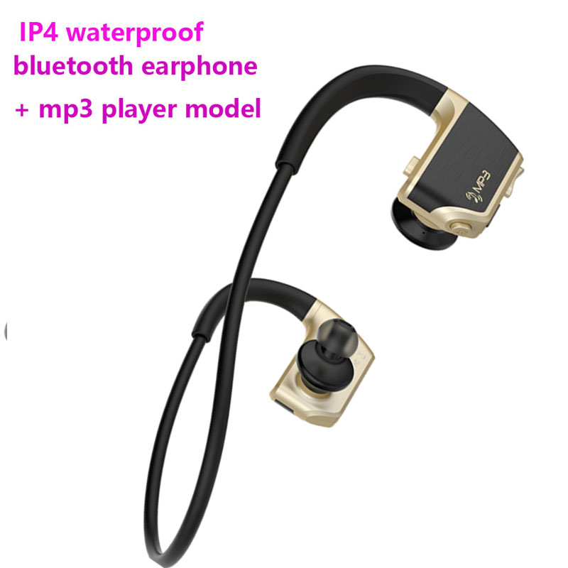 8GB Waterproof MP3 Music Player + Bluetooth Earphone Stereo Sport Wireless Headset Walkman Running Headphone with Mic for Phone ttlife bluetooth earphone s6 new wireless sport headset high fidelity music stereo headphone wiith mic for phone xiaomi original