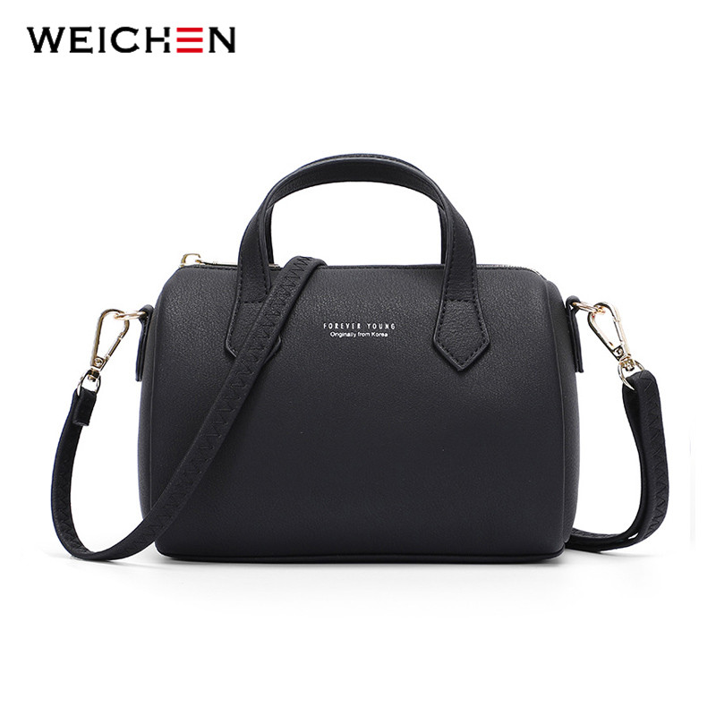 WEICHEN Fashion Boston Handbag Women Small Shoulder Bags Leather Handbags Female Crossbody Bag Bolsa Sac Deisgner Ladies Tote|Shoulder Bags| - AliExpress