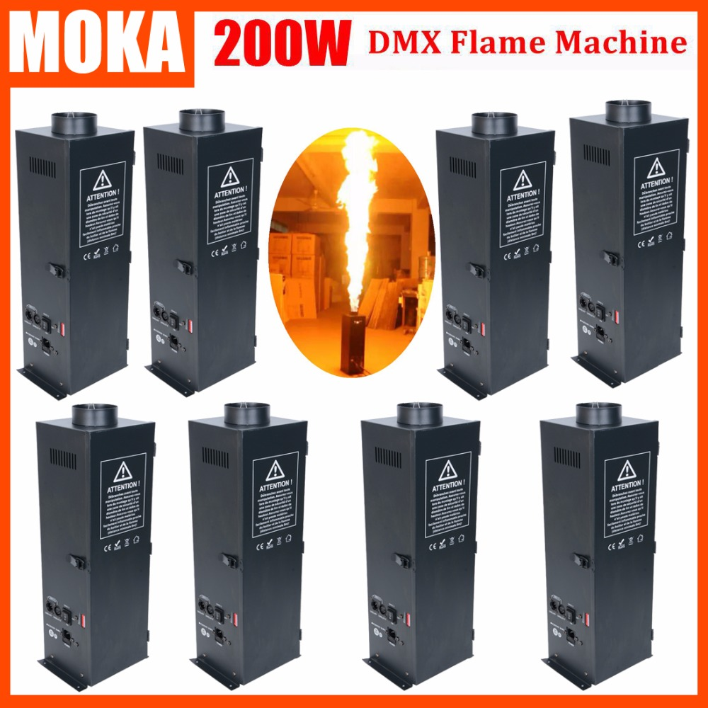 8 Pcs/lot Four Corner Spray Flame Projector Fireworks Machine / DMX Stage Effect Flame Machine for Amazing Shows 2pcs lot stage lpg flame machine dmx fire machine flame projector spray flame for stage effect