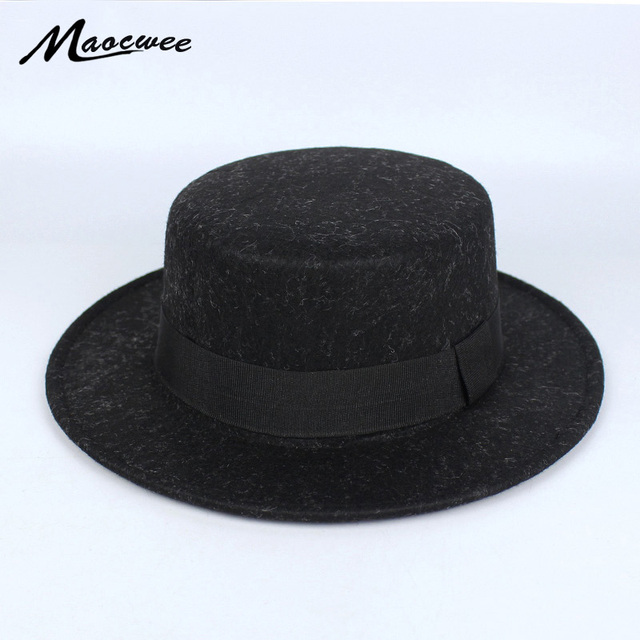 6bc33738516 Women s Bowler Pork Pie Hats Winter Men Fedora Jazz Top Hat For Man  Gentlman Winter Beret