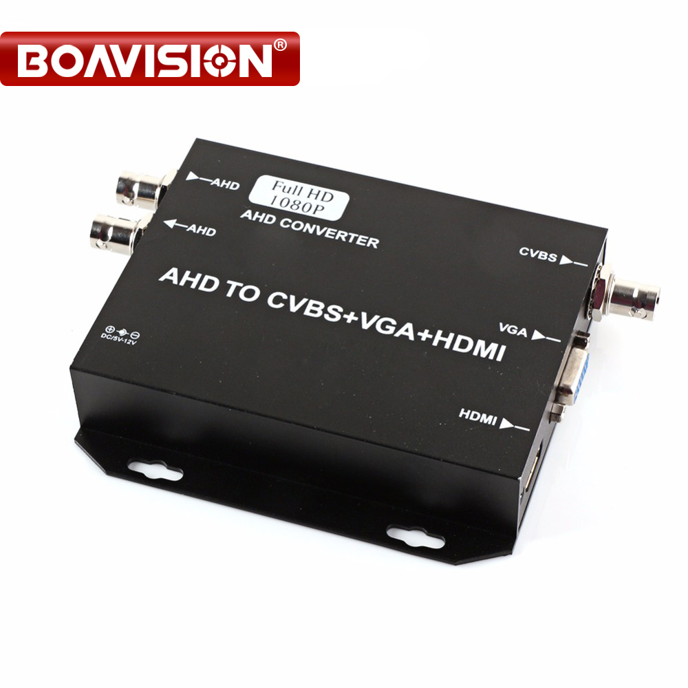 HD AHD to HDMI/VGA/CVBS Converter Adapter Encoder Adopts Coaxial Cable,Support 1080P/720P 25/30FPS HDMI+VGA+CVBS Output 750MA 80 channels hdmi to dvb t modulator hdmi extender over coaxial