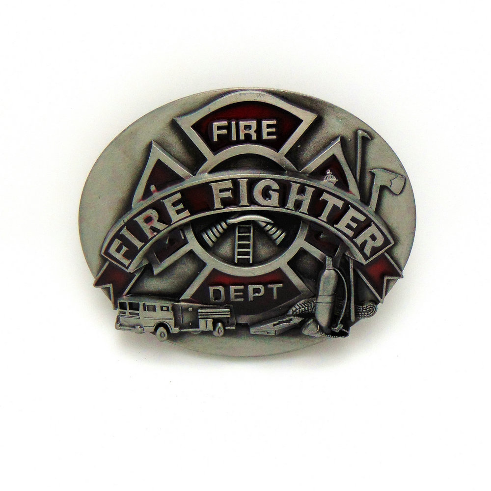 FIRE FIGHTER 2019most Popular Western Zinc Alloy Product Belt Buckle For 4.0