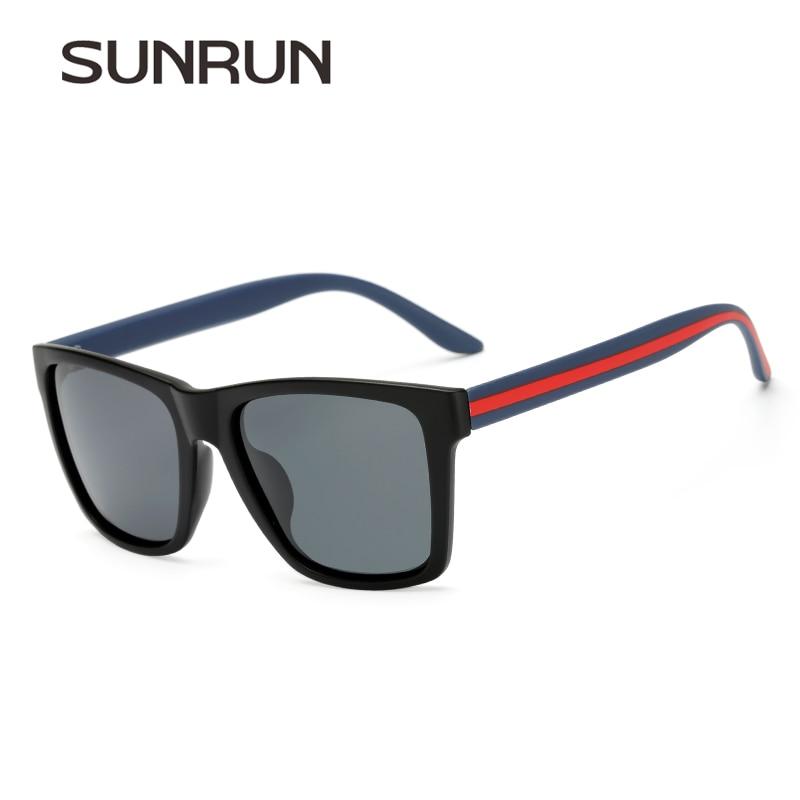 455c0d97c SUNRUN Marca Design Quadrado Homens Condução Óculos Polarizados Vidros Do  Carro Óculos De Sol Clássico Retro Vintage Oculos Gafas de sol P6045 em  Óculos de ...