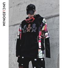 UNCLEDONJM Zombie Funny Printed Hoodie Men 2019 Winter Japan Style Hip Hop Hoodies Sweatshirts Casual Streetwear Hooded 538W