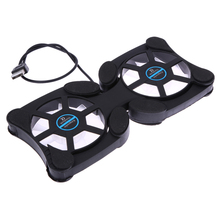 NI5L Foldable USB Cooling Fan Mini Octopus Notebook Cooler Cooling Pad Safety Stand Double Fans For 7-15 inch Notebook Laptop