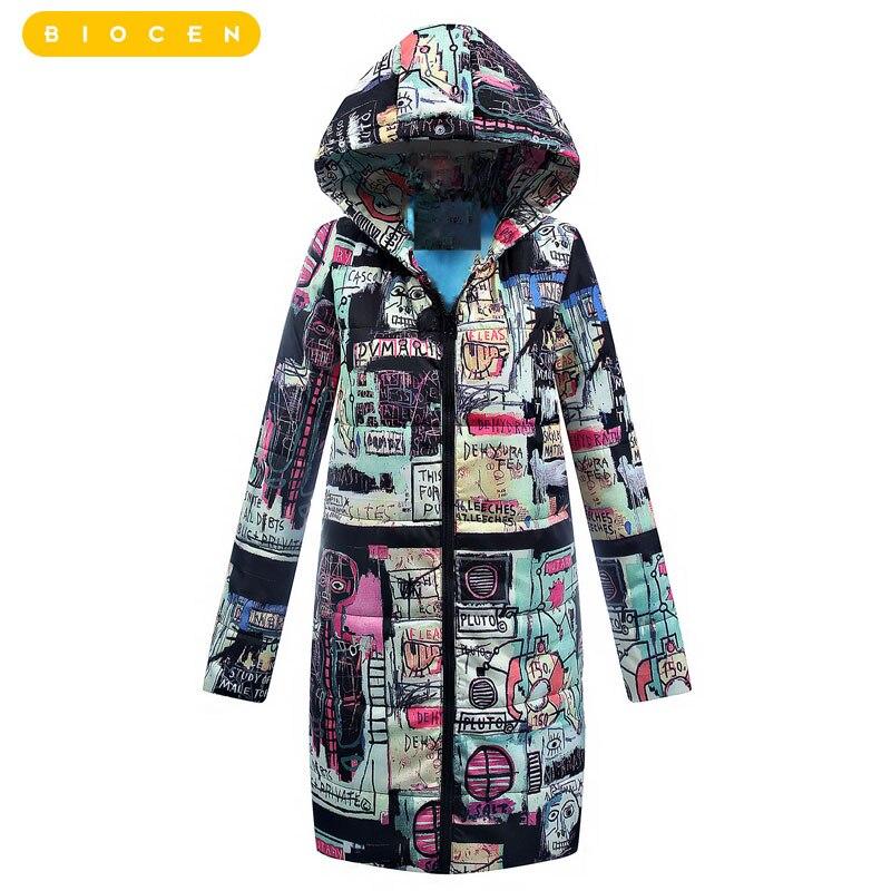 Biocen 2018 Для женщин Хлопок Зимняя куртка длинная парка теплая хлопковая стеганая подкладка зимнее пальто дамы для женщин; Большие размеры пар...