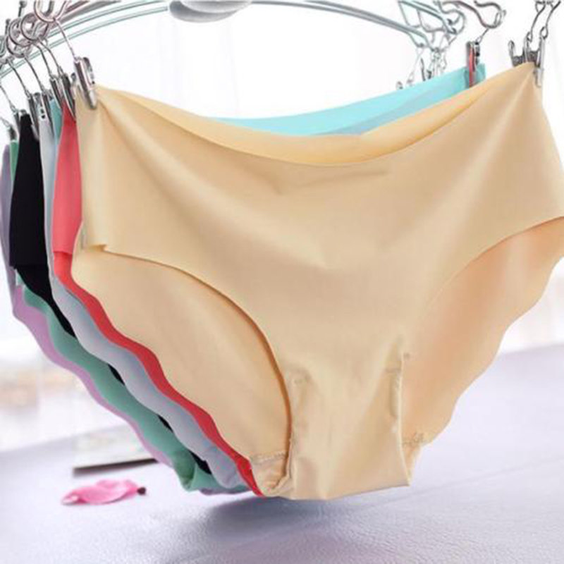 2019 Sexy   Panties   Women Solid Color Invisible Seamless Soft Thong Lingerie Briefs Hipster Underwear   Panties