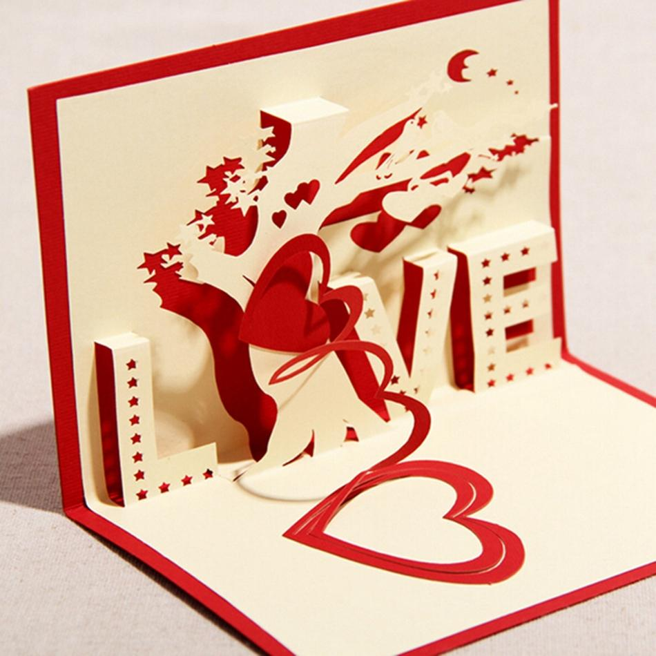 Kirigami greeting cards gallery greeting card examples valentine greeting cards handmade love theme kirigami 3d pop up card valentine greeting cards handmade love kristyandbryce Image collections