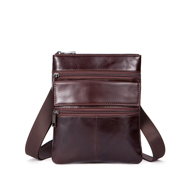 Genuine Leather shoulder Bag Casual Business Messenger Bags Vintage Crossbody Bag First layer Cattle leather small square bags