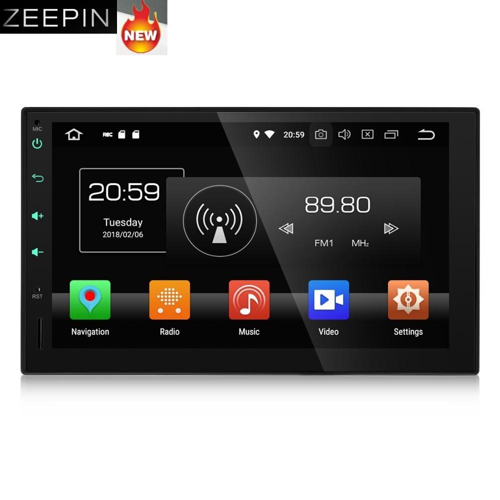 KD-7095 2 7 polegada Din DVD Player Do Carro Android 8.0G RAM 32 4G ROM Núcleo octa car Multimedia Player GPS Navigation Vídeo OBD Wi-fi