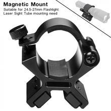 MX01 Magnetic Mounting Bracket LED Flashlight Mount + Dual Magnets for 24-27mm Dim Range Assembly