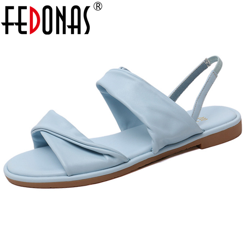 FEDONAS Classic Round Toe Shallow Rome Women Sandals Solid Sheepskin Party Casual Shoes Woman Comfortable Single Women FlatsFEDONAS Classic Round Toe Shallow Rome Women Sandals Solid Sheepskin Party Casual Shoes Woman Comfortable Single Women Flats