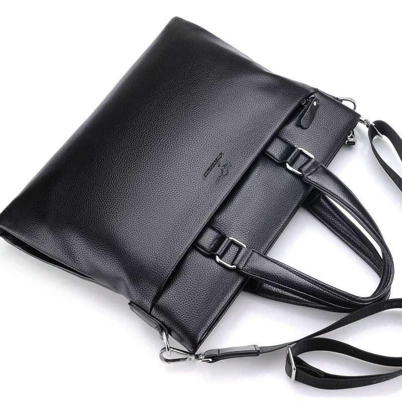 Luxury Leather Briefcases Men Laptop Male Messenger Bag Men's Genuine Leather Shoulder Bags Briefcase For Documents Handbag