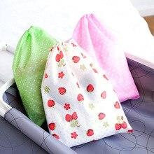 1 pcs 방수 부직포 컨테이너 주최자 신발 천으로 스토리지 가방 여행 drawstring 가방 천으로 속옷 신발 수신 가방