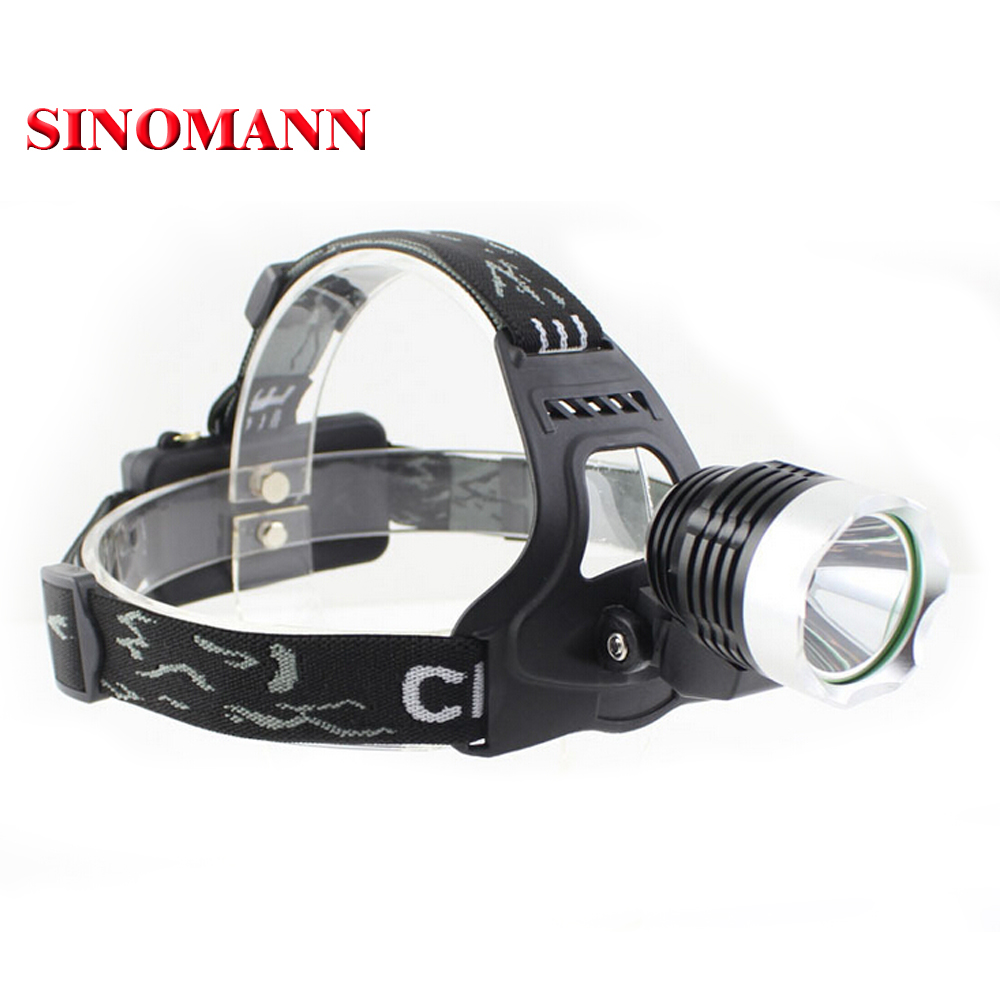 Lightess Phares Super Bright Zoomable Headlamp 1800 LM XM-L T6 DEL Tête Torche
