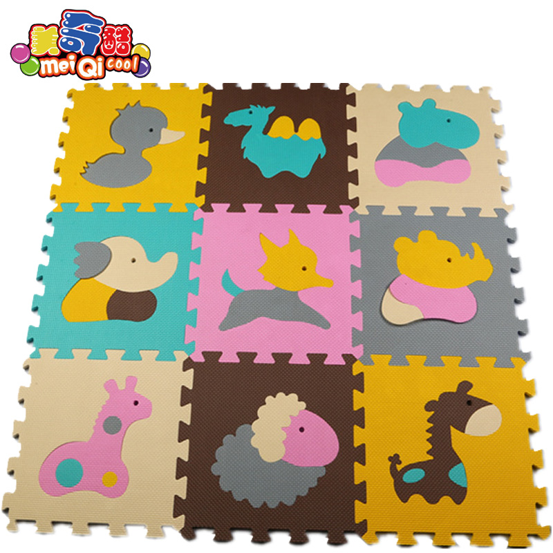 MEI QI COOL New 9pcs Soft Educational Roadway Baby Split Joint Puzzle Mat 30*30*1.0cm Baby Floor Mat EVA Foam Flooring Baby Toy