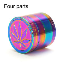 40mm Grinder 4 Layer Herb  Metal Ice Bule Tobacco Smoke Smoking Pipe Accessories for Crusher