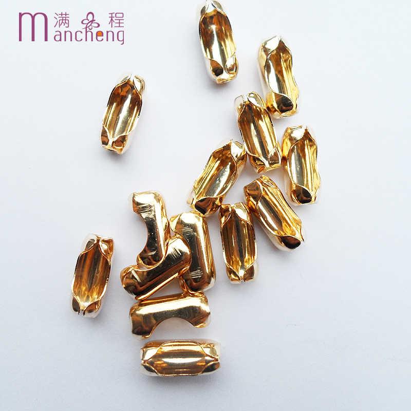 10 sztuk/paczka dobrej jakości 6*16mm złoty kolor miedziany koralik klamry w pasie, nadaje się 5 MM 6 MM korale link klamra dla naszyjnik bransoletka