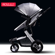 лучшая цена 2 in 1 BabyCarts Baby Carriage High landscape baby stroller can sit four wheel shock absorber folding two-way