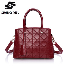 Top-Handle bags inclined shoulder ladies hand bag Women Genuine leather handbag sac 2016 woman bags handbags women famous brands