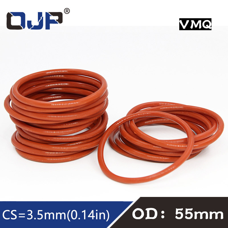 3.5mm Section Select OD from 51mm to 200mm Rubber O-Ring gaskets