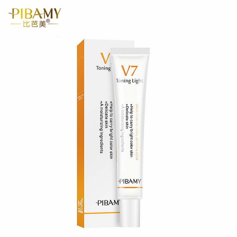 PIBAMY 30g  V7 Vitamins Whitening Cream Effective Repair Rough Skin Whitening Moisturizing Face Care Instant Ageless Day Cream