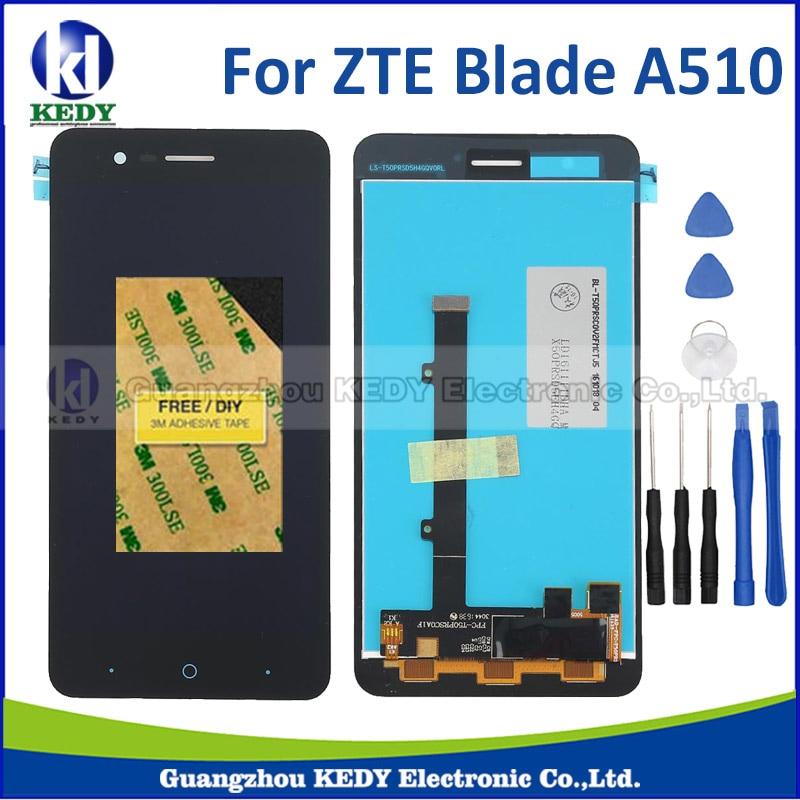 1 unids para zte blade a510 ba510 digitalizador asamblea pantalla lcd con la pan