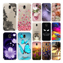 Soft TPU Silicone For Samsung J7 2017 J730F EU Case Covers for J730 Cute printed soft phone case