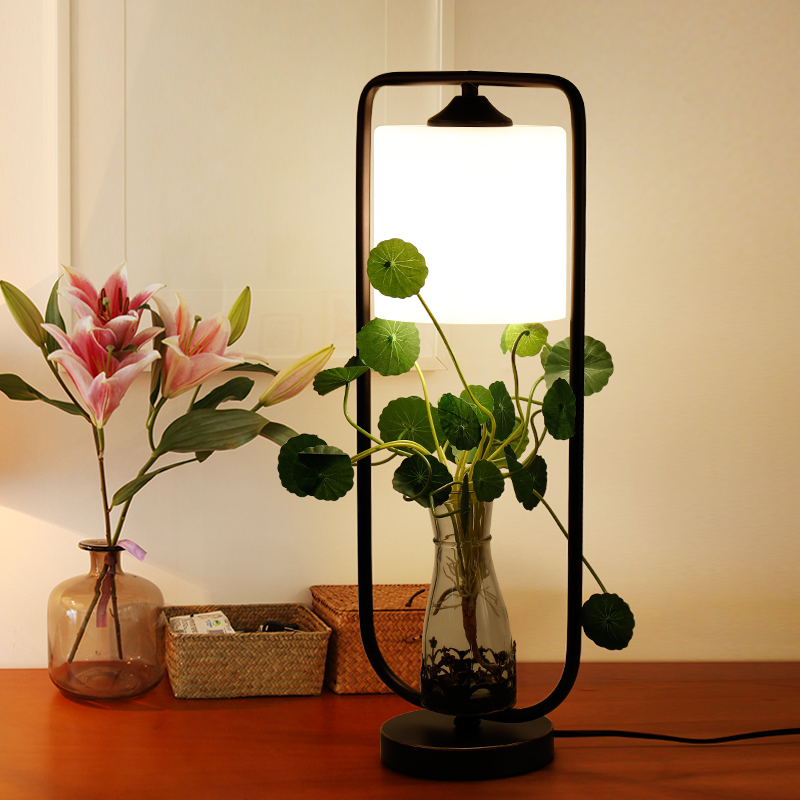 hotel Table Lamps country garden creation green plants living room bedroom bedside study room personalized iron desk LU726263