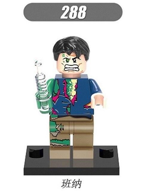 10pcslot xinh288 bruce banner bulk figures marvel super heroes building blocks model kids christmas