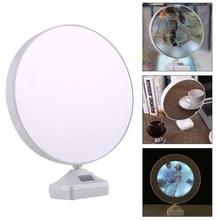 2 в 1 светящееся зеркало Волшебная фоторамка комната настольное зеркало Ночной светильник с usb зарядным кабелем Многофункциональный белый