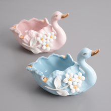 Modern Swan ashtray pink blue Personality Fashion ashtrays Home decoration  smoking tray Indoor accessories