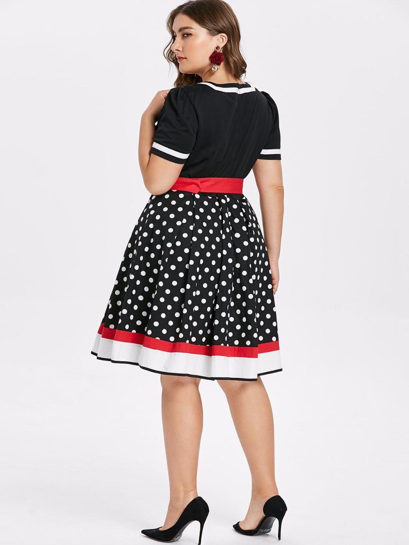 Sleeveless Polka Dots Printed Vintage Pin Up Style Flower Girl Dress 6
