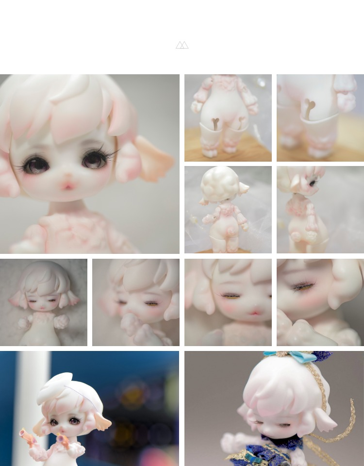 BJD sd RD 1 12 sheep animal model for collection nude doll fro collection model gift