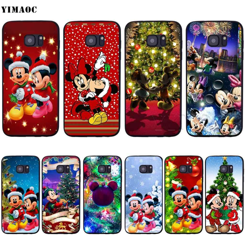YIMAOC Christmas Mickey Minnie Soft Silicone Case for Samsung Galaxy S6 S7 S10eEdge S8 S9 Plus A3 A5 A6 A7A8 A9 J6 Note 8 9 2018