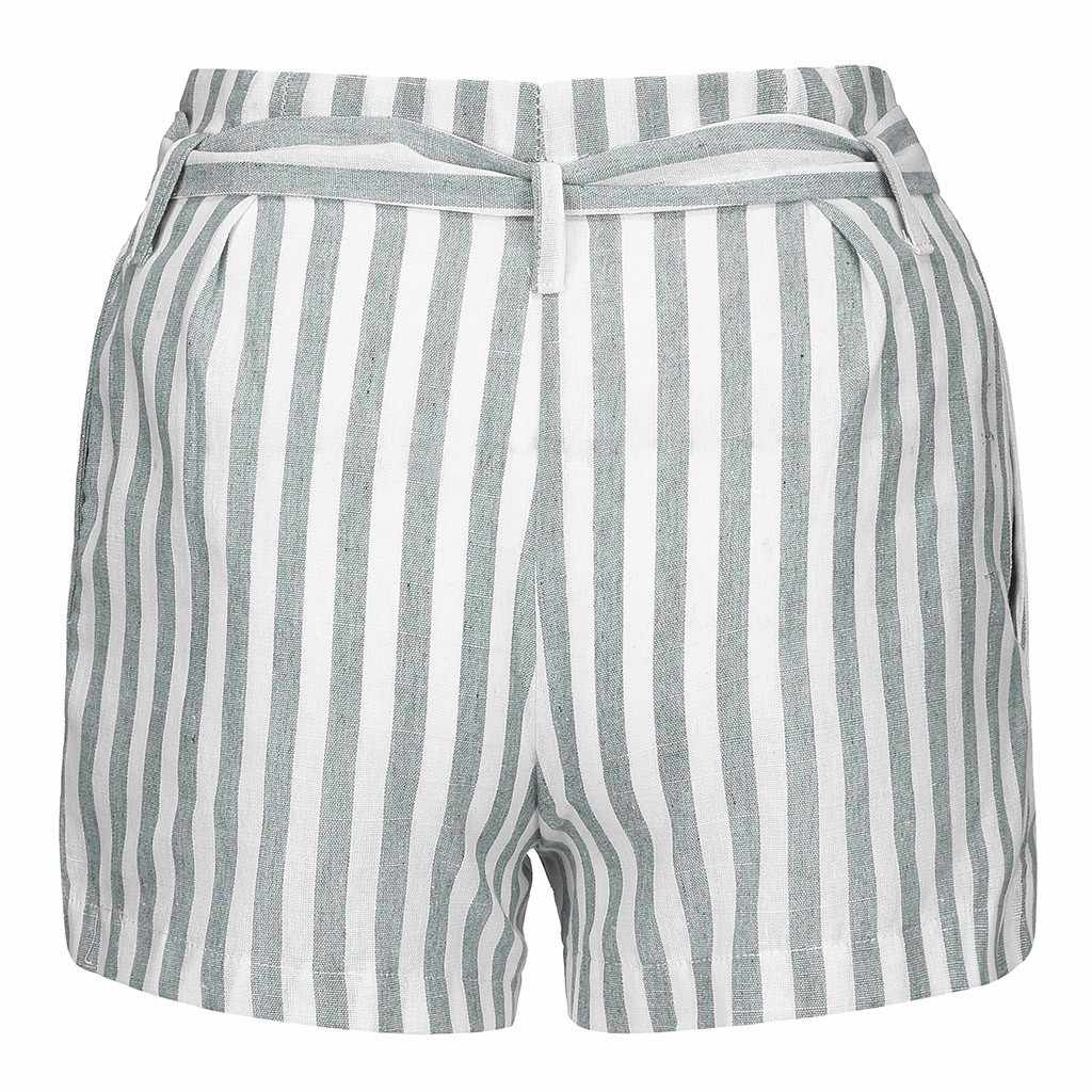Womail женские шорты 1 шт Летние Короткие повседневные однотонные Женские полосатые кнопки свободные горячие женские летние шорты s пляжные брюки 2019 Jun04