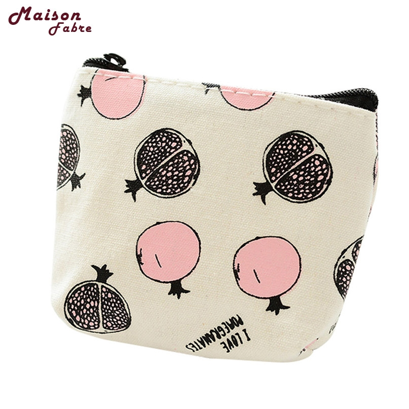 New Girls Cute Fashion Print Canvas Coin Purse Wallet Bag Change Pouch Key Holder drop shipping 0808 2017 women girls cute fashion bear coin purse canvas wallet bag change pouch key card pocket holder new lovely zip mini small