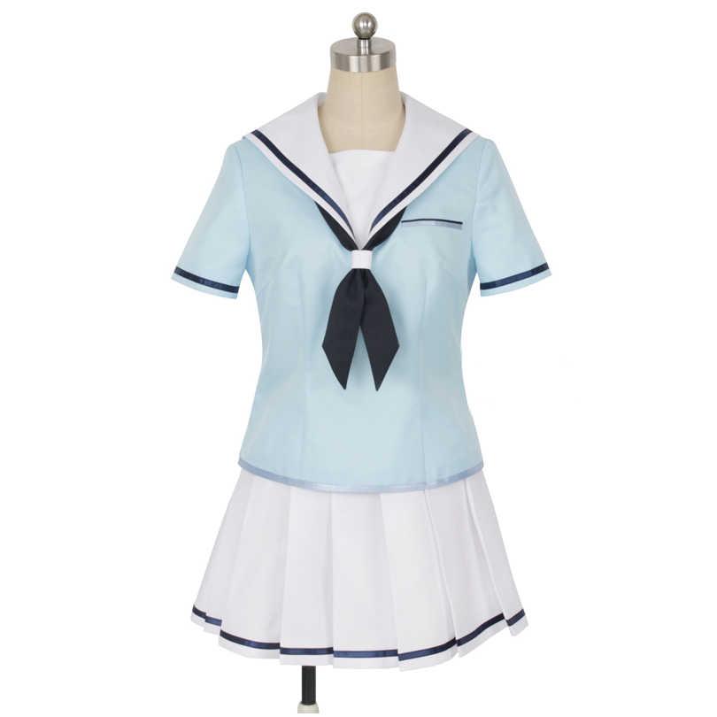 יפני אנימה מפץ חלום! קאסומי טויאמה Cosplay תלבושות בנות חמוד חליפת מלחים ליל כל הקדושים קרנבל אחיד מלא סטי תפור לפי מידה