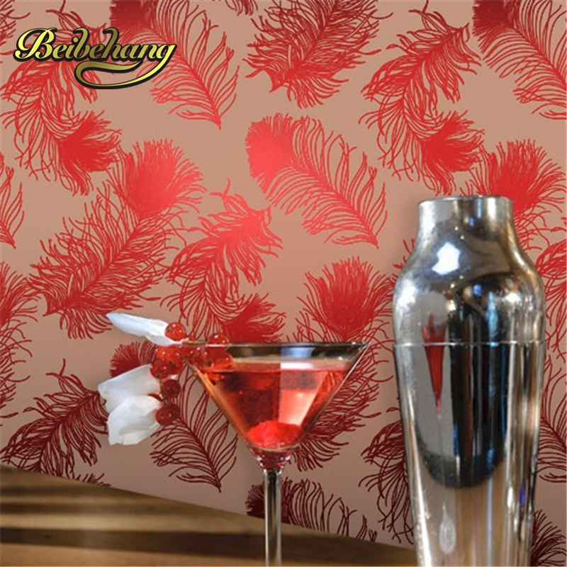 beibehang papel de parede Southeast Asian style bedroom living room red gilded background wallpaper box entrance KTV bar southeast asiabanana leaf wallpaper designs super heavy nice quality wallpaper for papel de parede moderna for living room