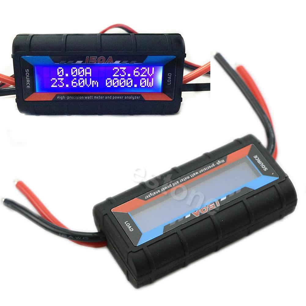 Courant Analyseur de Puissance G. T. Puissance 150A RC Haute Précision Analyseur de Puissance et Watt Meter W/Rétro-Éclairage LCD