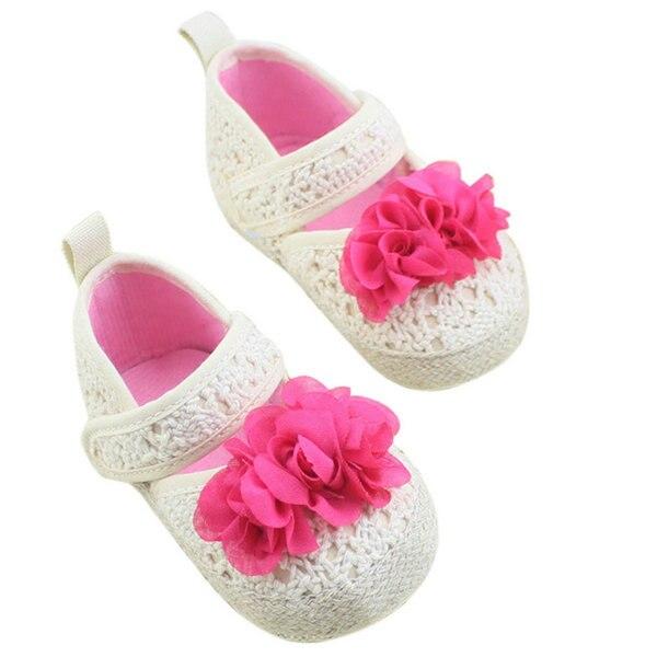 Spring Summer Newborn Baby Girl Sweet Princess Infant Toddler Flower Non-slip Shoes