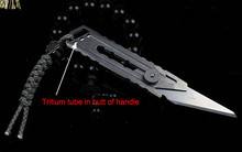 Titanium Alloy Utility Knife Four Gears Fixed Blade Knife Tactical Survival Knife Tritium Tube In Butt of Handle1948#