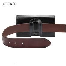 OEEKOI Genuine Leather Belt Clip Pouch Case for Vivo Y53i/Y53/V3/Y51e/Y35A/V1 2015/X5M/X5F/X5V/X5S/Y29L/X3V/X3F/X3L/X5 5 Inch