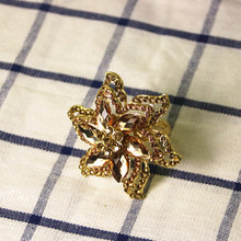 8PCS napkin ring alloy diamond button crystal mouth cloth hotel supplies table decoration