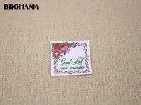 70 Custom Logo Labels Bright Flowers Custom Clothing Labels Name Tags White Organic Cotton TB035