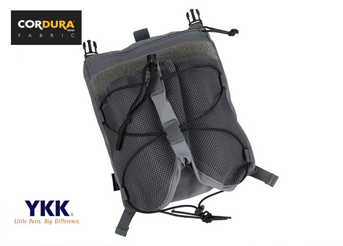 Helmet Back Panel Pouch For 4020 Plate Carrier Wolf Grey Combat Gear+Free shipping(XTC050924) convex pouch string design voile panel t back