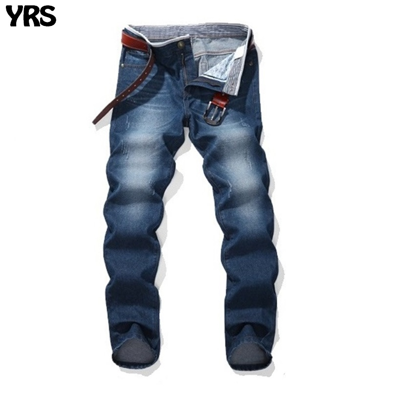 Summer jeans solid men pants fashion youngers denim trousers