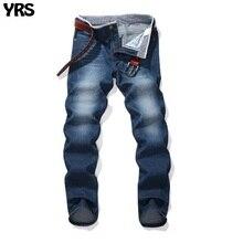 Летние джинсы мужские брюки Fashion младших джинсовые штаны
