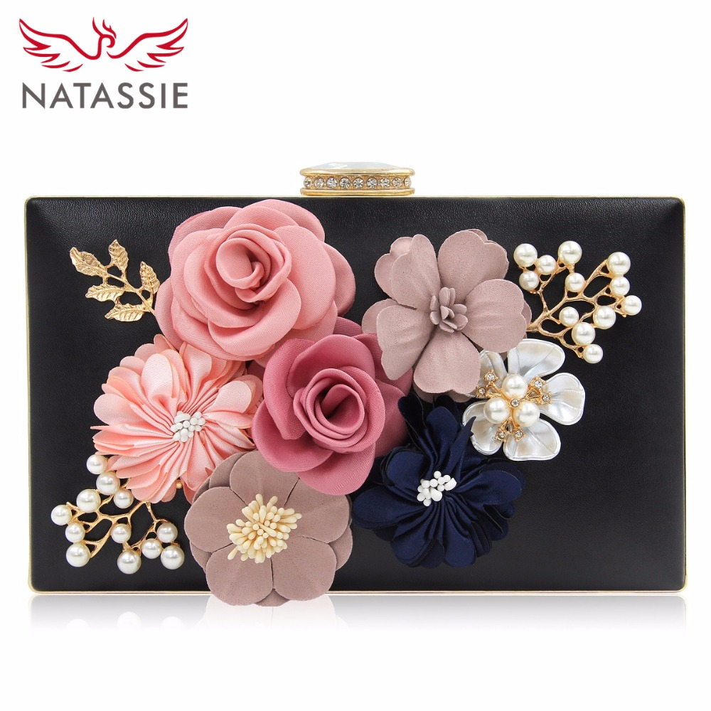 NATASSIE 2018 New Women Clutch Bag Ladies Black Evening Bags Ladies Royal Blue Day Clutches Purses Female Pink Wedding Bag 2017 new fashion women evening bag ladies luxury diamonds dress handbag female day clutches messenger bags handbags purses