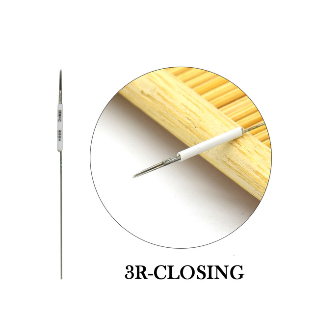 50PCS Microblading Tattoo Needles 1R/3R//5R/5F/7F Disposable Sterilized Needles Permanent Makeup Eyebrow Lip Eyeline Needles 2
